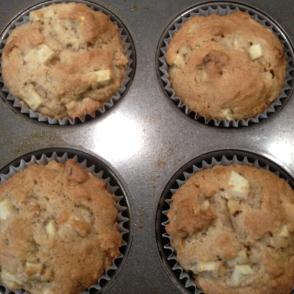 Apple Walnut Muffins